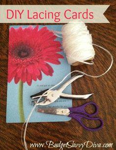 DIY Lacing Cards