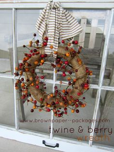 {twine & berry wreath}