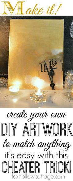 Diy Art: cheap and easy art - made to match #diyhomedecor #diyart