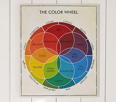 colour, idea, pottery barn color wheel, potteri barn, vintage colors, vintag color, art, color wheels, pottery barn kids playroom