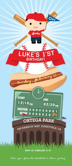 Baseball Theme Birthday Party
