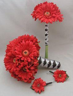 Gerber Daisy Wedding Flower Package Bridal Bouquet Bridesmaid Bouquet