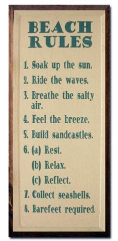 Beach Rules: