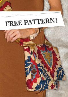 Over One Shoulder Bag, FREE PATTERN!   DIY purse pattern