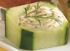 Stuffed Cucumber Snacks