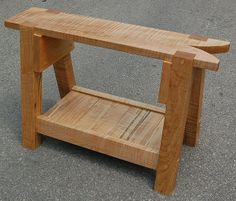 Saw Bench    		A Traditional Saw Bench used in the shop for sawing boards.  It is 20  inches tall, and made out of HORSE LOGGED Silver Maple from the Guelph  area.