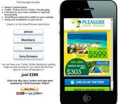 Travel Agency example http://dwmc.mobi/socialmobile/travel/index.html