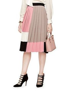 colorblock pleated s