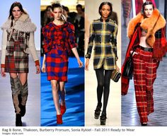 Plaid fashions for fall 2011