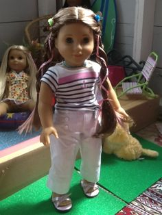 American Girl Doll Play: Make Colored Hair Extensions For Your Doll!