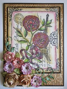 Designs by Marisa: JustRite Papercraft May Release Day Three - Botanical Postcard Card