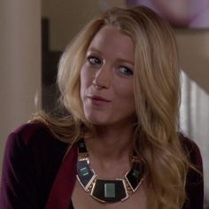 Serena van der Woodsen's Black Bold Necklace from Gossip Girl: Where the Vile Things Are #ShopTheShows #curvio