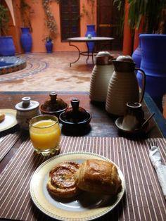 Breakfast in the Riad, Marrakech, Morocco