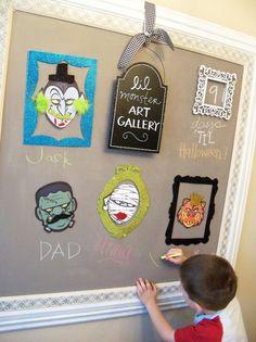 Easy Halloween Craft {'Lil Monster Art Gallery}