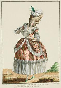 Galerie des Modes, 7e Cahier, 3e Figure: Linen polonaise, 1778