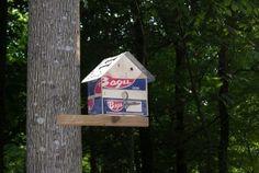 Clementine Crate Bird House - http://www.rustixs.com/2012/06/clementine-crate-birdhouse/