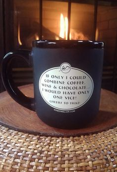 """Jumbo Java Mug """"If only I could combine coffee, wine & chocolate...I would have only one vice! Cheers to that!"""" #wine #java #coffee"""