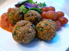 Gluten Free Dairy Free Baked Turkey Spinach Meatballs