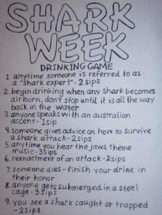 Playing this during Shark Week