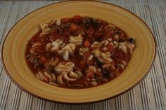 Pasta Fagioli in the crock pot