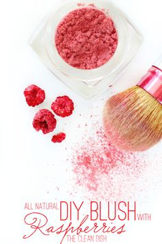 DIY: all natural blush with dried raspberries