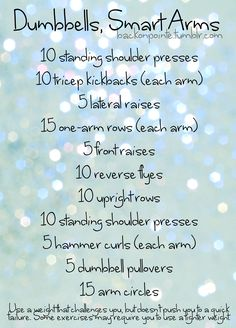 A dumbbell arm, chest, and shoulder workout!