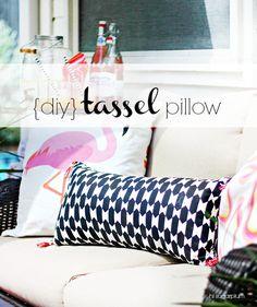 HI Sugarplum | DIY Tassel Pillow