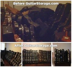 Another #guitar room rescue courtesy of our Studio™ Guitar Case #Storage Racks. View more at http://guitarstorage.com/guitar-case-storage-racks/