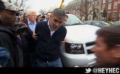 George Clooney getting arrested outside the Sudanese embassy. A million people wish they were that policeman right now.