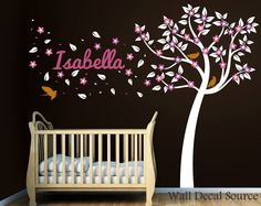 Nursery Wall Decal Vinyl Tree Decal Wall by WallDecalSource