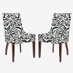 Cool zebra chairs