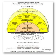 leinigers theory This paper is focused on the essential features of the nursing theory of cultural care diversity and universality an overview of the essential features is discussed.