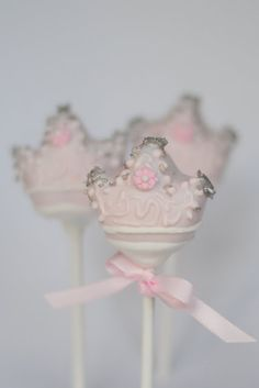 Pale Pink Princess Crown Cake Pop