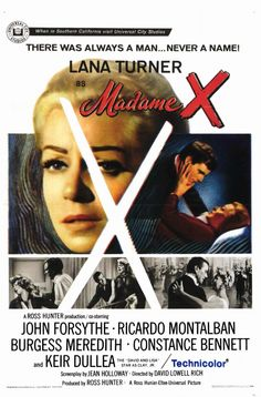 Madame X, 1966. #film #poster...one of Marge Snow's favorite movies!