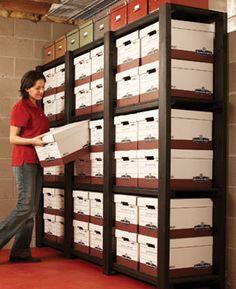 Big box storage - great idea for storing boxes in garage or utility area  ****************************************** FamilyHandyMan - #organization #household #tips #storage #garage #utility - tå√
