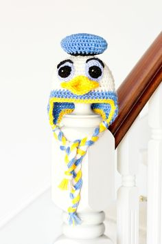Donald Duck Inspired Baby Hat Crochet Pattern via Hopeful Honey