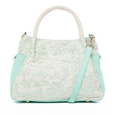 Mint + Lace Tote