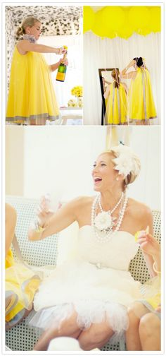 yellow grey palms springs wedding