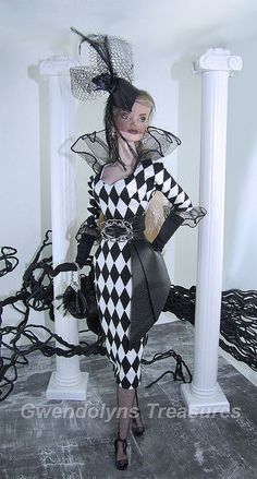White Harlequin by Gwendolyns Treasures, via Flickr