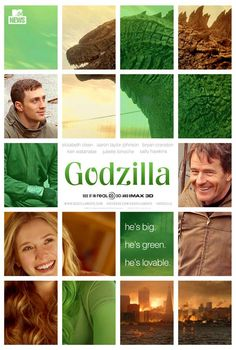 New Godzilla Poster. Looks like it's going to be the best Romantic Comedy hit of the Summer. - Imgur