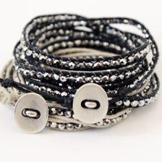 bead, diy wrap bracelets, handmad jade, gift ideas, crafti stuff, jewelri project, how to make wrap bracelets, diy jewelri, how to make handmade bracelets