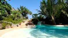lagoon pool, african resort