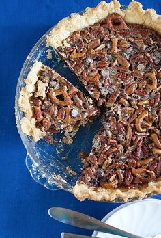 Chocolate- Pretzel Pecan Pie #recipe