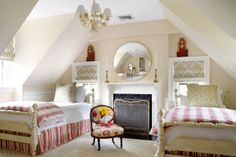 interior design, decor, child room, kid rooms, twin beds, suellen gregori, guest rooms, bedroom
