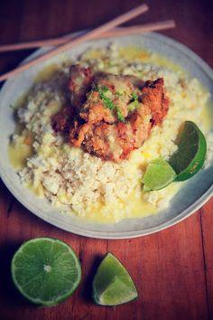 Crispy Coconut Mango Chicken by @Brittany Horton Angell brittanyangell.com #paleo