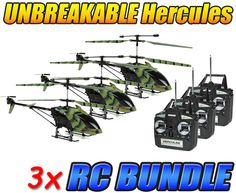 Camo Hercules Unbreakable 3.5CH RC Helicopter 3-Pack Bundle