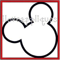 INSTANT DOWNLOAD Cute Mickey Mouse Box Square by iloveappliques, $2.99