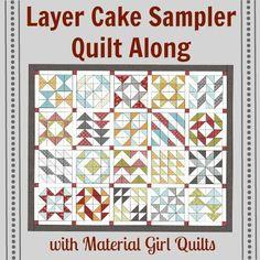 Layer Cake Sampler QAL Week 1 {Basic piecing instructions and Blocks 1 & 2}