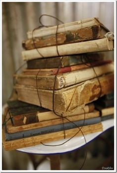Love old books ... great to decorate with, warms a room
