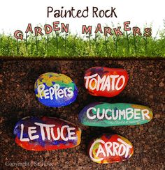 SaltTree: Rockin labels for your veggie garden.